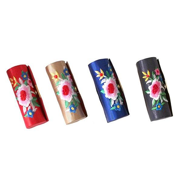 ベトナム 花 刺繍 リップケース(花 12色)【画像2】
