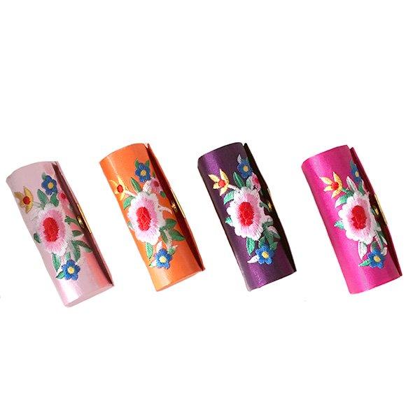 ベトナム 花 刺繍 リップケース(花 12色)【画像3】