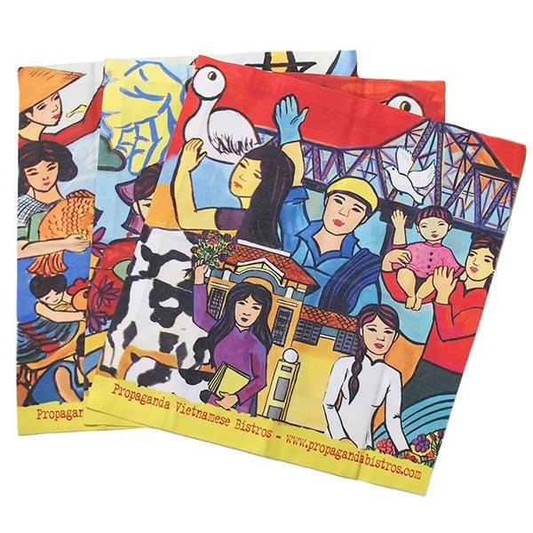 ベトナム プロパガンダ アート ランチマット 3種(正方形)
