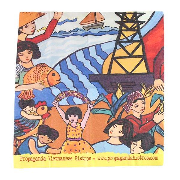 ベトナム プロパガンダ アート ランチマット 3種(正方形)【画像3】