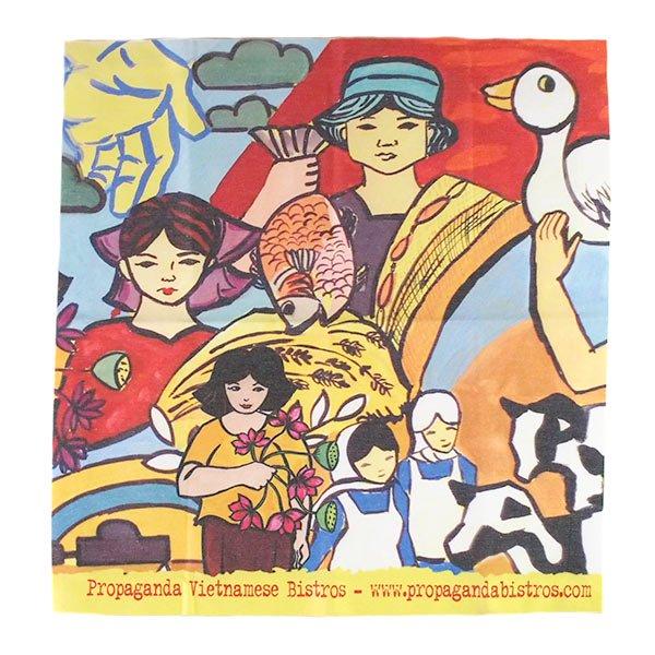 ベトナム プロパガンダ アート ランチマット 3種(正方形)【画像4】