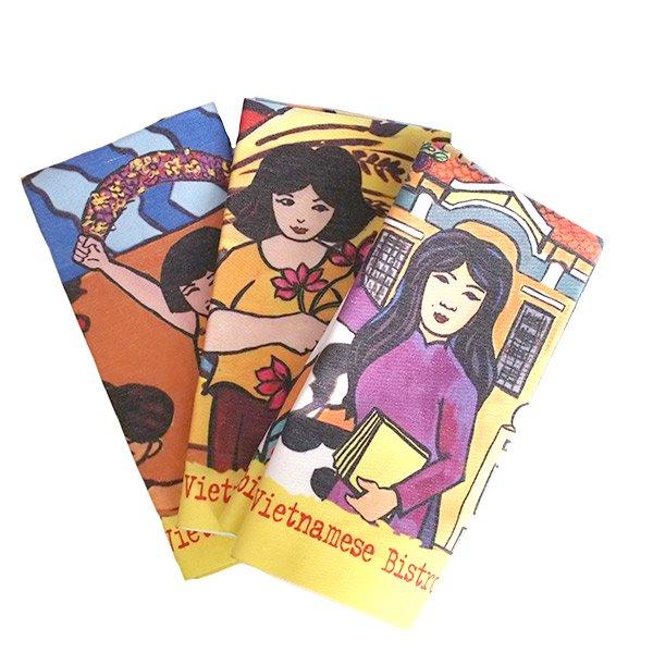 ベトナム プロパガンダ アート ランチマット 3種(正方形)【画像9】