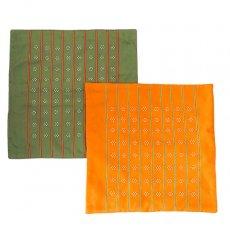 ファブリック ベトナム 少数民族 カトゥー族 ビーズ クッションカバー(2色)