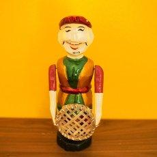 水上人形劇 ベトナム 水上人形劇 木の人形(丸い ザルを持つ人 大)