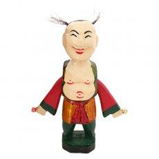 ベトナムの手仕事 ベトナム 水上人形劇 木の人形(鈴を鳴らす男性人 小)