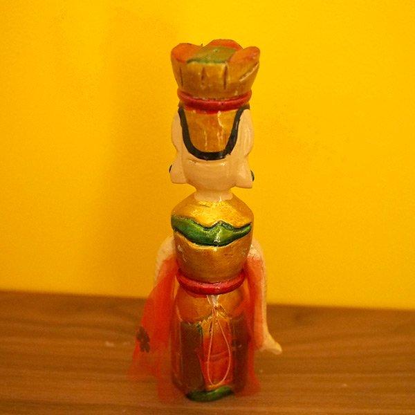 ベトナム 水上人形劇 木の人形(マントを広げる女性   小)【画像3】