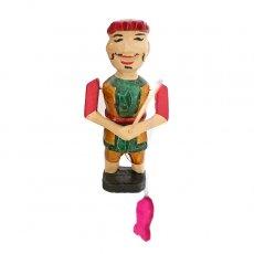ベトナムの手仕事 ベトナム 水上人形劇 木の人形(釣りをする人 A  小)