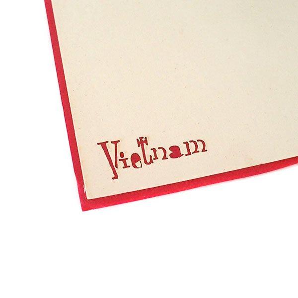 ベトナム 切り絵 ポップアップカード(天秤棒 女の子 15×10)【画像4】
