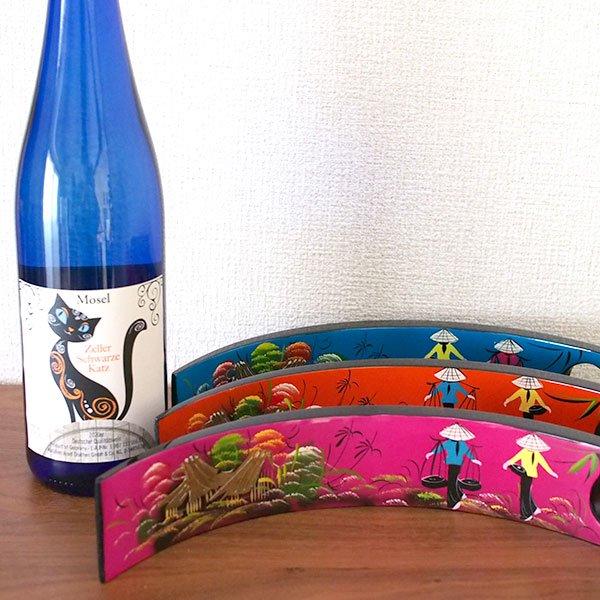 ベトナム 漆 ワインホルダー(三ヶ月型 4色)【画像7】