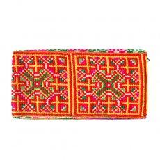 ベトナム 少数民族 モン族 刺繍 長財布(イエロー A)民族 刺繍 / ベトナム直輸入