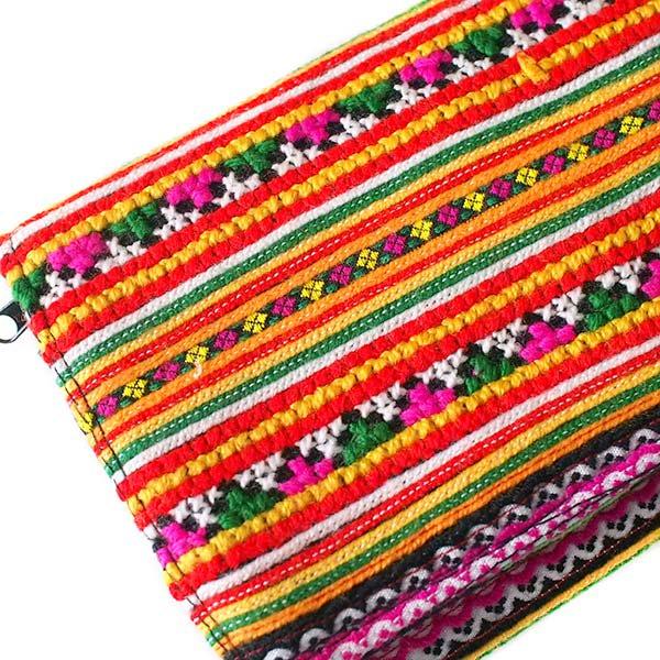 ベトナム 刺繍の長財布