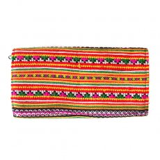 ベトナム 少数民族 モン族 刺繍 長財布(イエロー B)民族 刺繍 / ベトナム直輸入