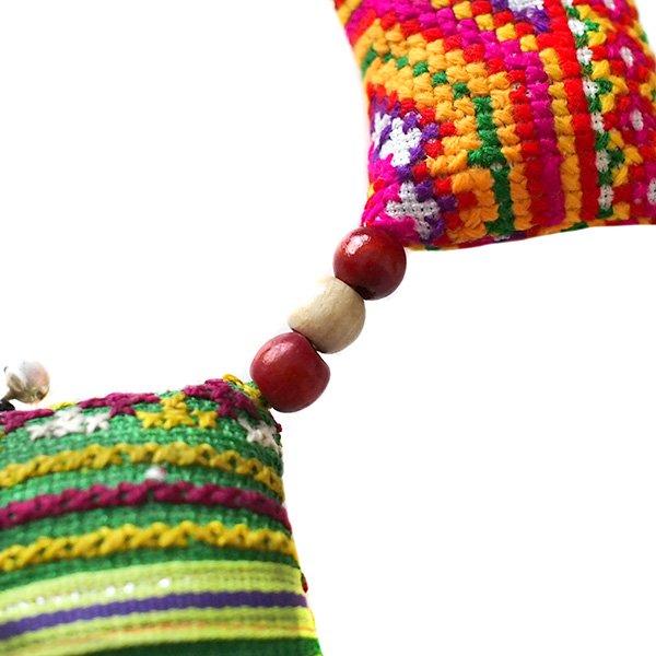ベトナム モン族 刺繍 布 オーナメント(月・スクエア)【画像7】