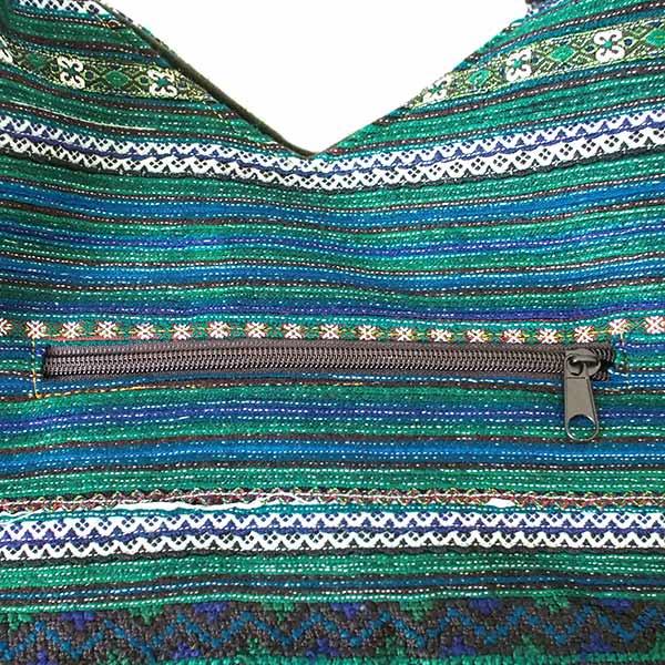 ベトナム 少数民族 モン族刺繍  ショルダーバッグ(ブルーグリーン)【画像4】