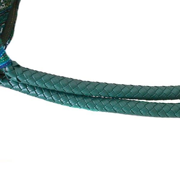 ベトナム 少数民族 モン族刺繍  ショルダーバッグ(ブルーグリーン)【画像5】
