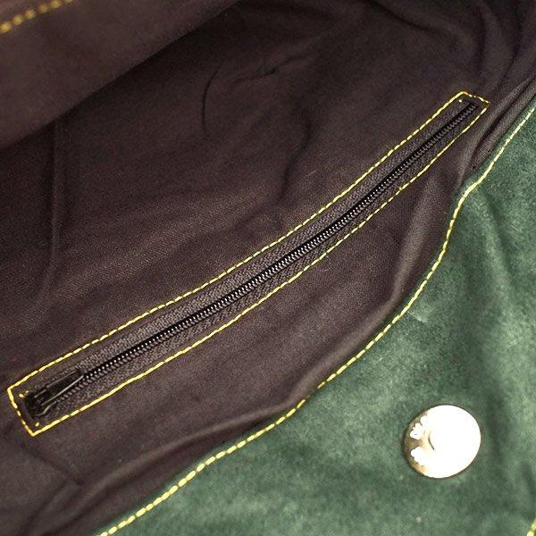 ベトナム 少数民族 モン族刺繍  ショルダーバッグ(ブルーグリーン)【画像6】
