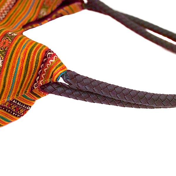 ベトナム 少数民族 モン族刺繍  ショルダーバッグ(オレンジ)【画像5】