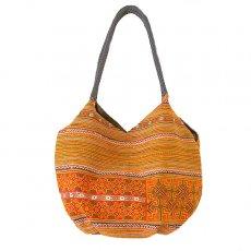 ベトナム 少数民族 モン族刺繍  ショルダーバッグ(オレンジ)