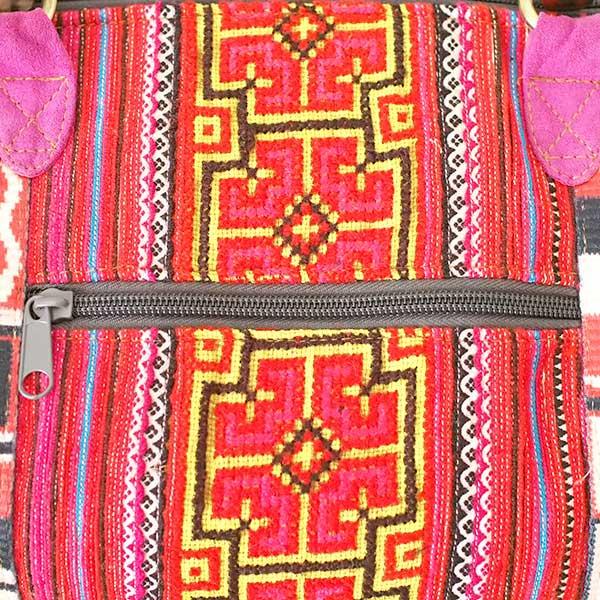 【送料無料】ベトナム 少数民族 モン族刺繍  バッグ(大 レッド)【画像4】