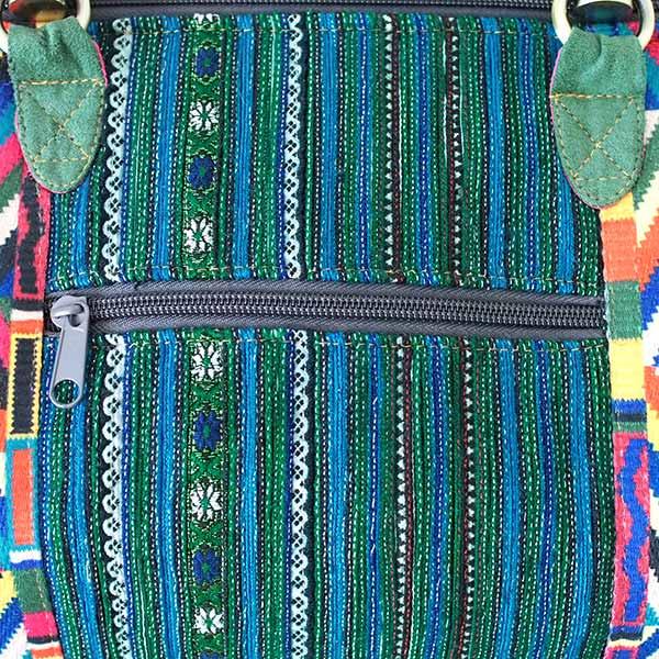 【送料無料】ベトナム 少数民族 モン族刺繍  バッグ(大 グリーン)【画像4】
