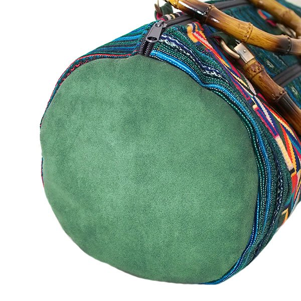 【送料無料】ベトナム 少数民族 モン族刺繍  バッグ(大 グリーン)【画像5】