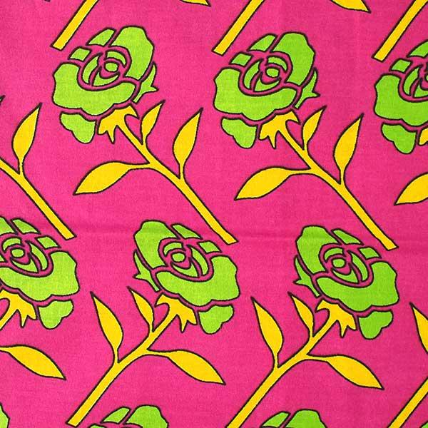 アフリカ ケニア カンガ プリント布 110x150(薔薇 ピンク 日本語訳不明)【画像3】