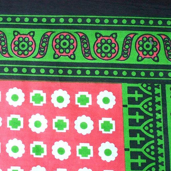 アフリカ ケニア カンガ キストゥ 110×150(グリーン×ピンク)【画像5】
