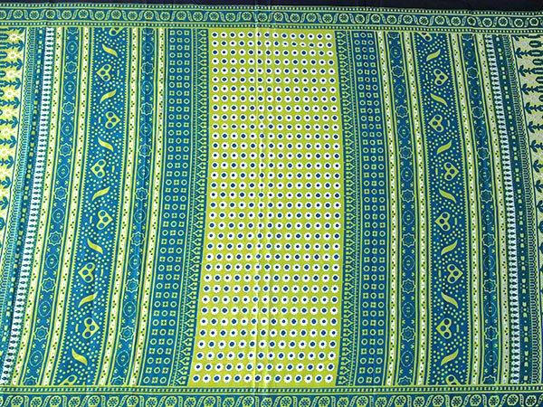 アフリカ ケニア カンガ キストゥ 110×150(キミドリ×ブルーグリーン)【画像6】