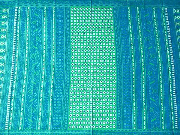 アフリカ ケニア カンガ キストゥ 110×150(ブルーグリーン×ブルー)【画像6】