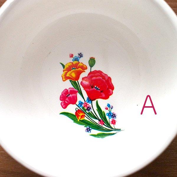 ベトナム 花柄 プラスチック 小皿(直径 約8cm 高さ 3.5cm)【画像2】