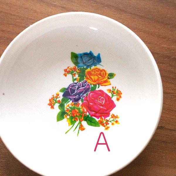 ベトナム 花柄 プラスチック 小皿(直径 約8cm 高さ 2.5cm)【画像2】