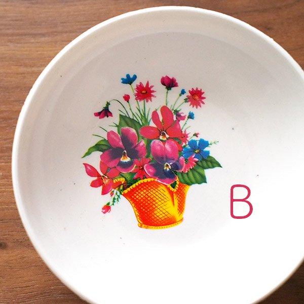 ベトナム 花柄 プラスチック 小皿(直径 約8cm 高さ 2.5cm)【画像3】