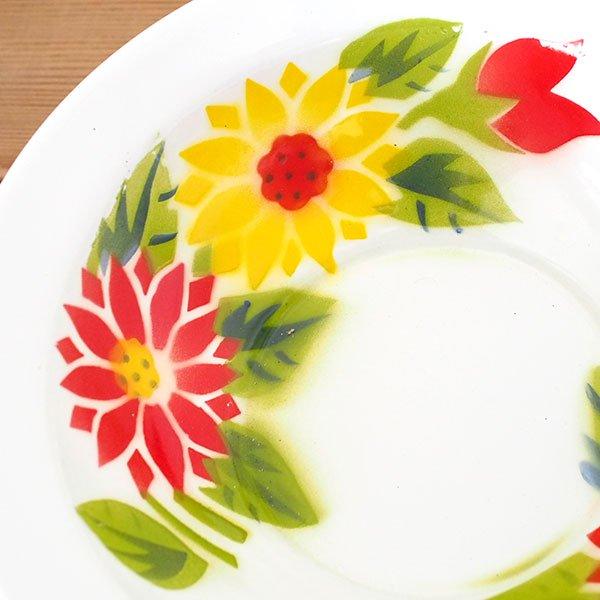 タイ ホーロー  ボウル レトロ 花柄 直径 約20.5cm 【RABBIT BRAND】【画像3】