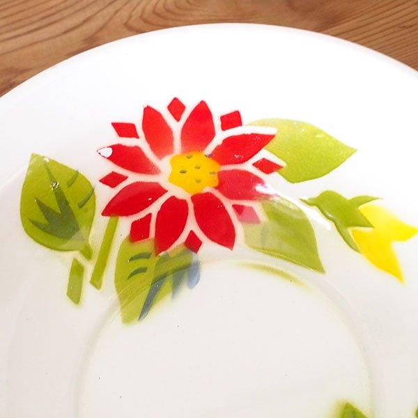 タイ ホーロー  ボウル レトロ 花柄 直径 約20.5cm 【RABBIT BRAND】【画像4】