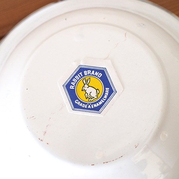 タイ ホーロー  ボウル レトロ 花柄 直径 約20.5cm 【RABBIT BRAND】【画像5】