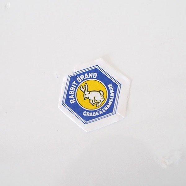 タイ ホーロー トレー  レトロ 花柄 B 直径 約25cm【RABBIT BRAND】【画像4】