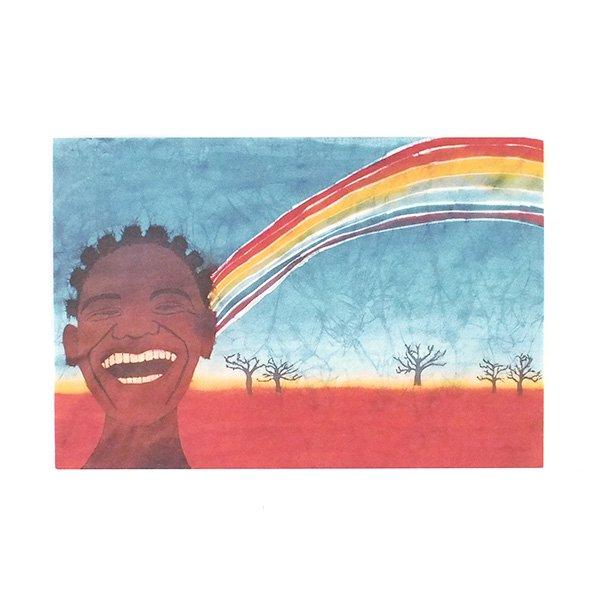 アフリカ バティック ポストカード【GIFT OF NATURE 自然の贈り物】