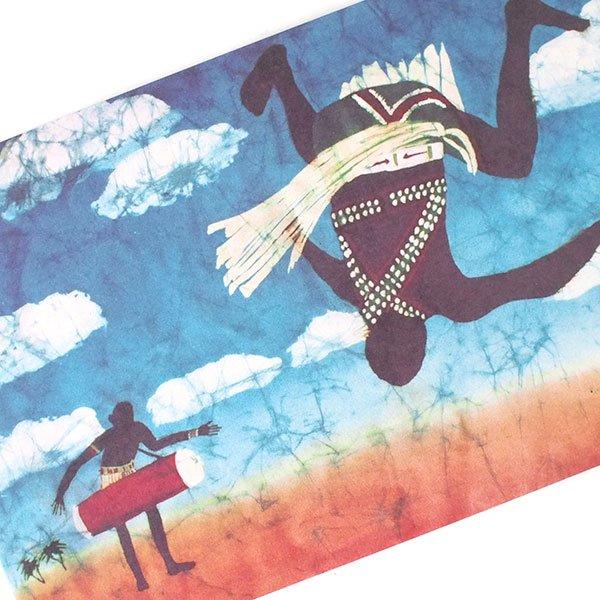アフリカ バティック ポストカード【EARTH BEAT DANCE 大地の鼓動】【画像3】