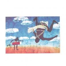 アフリカ バティック ポストカード【EARTH BEAT DANCE 大地の鼓動】