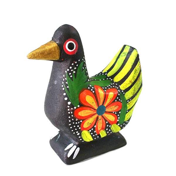 メキシコ ウッドカービング アレブリヘス(鳩 ブラック)