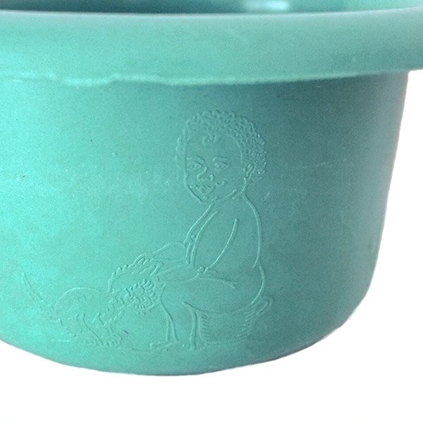 セネガル プラスチック片手 桶(ペパーミント)【画像3】