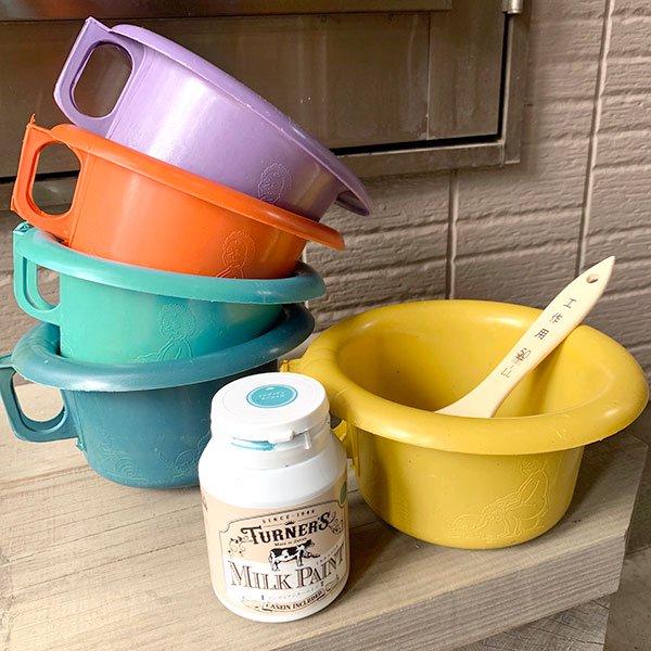 セネガル プラスチック片手 桶(ペパーミント)【画像5】