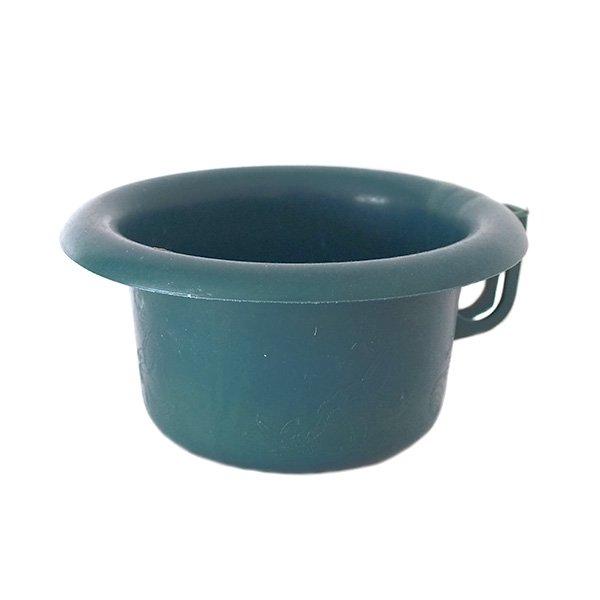 セネガル プラスチック片手 桶(ダークグリーン)
