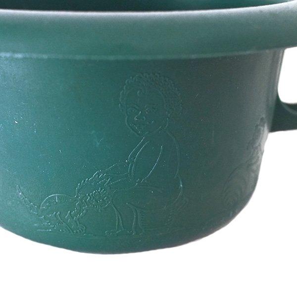 セネガル プラスチック片手 桶(ダークグリーン)【画像3】