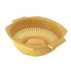 セネガル プラスチック水切りザル(マスタード)