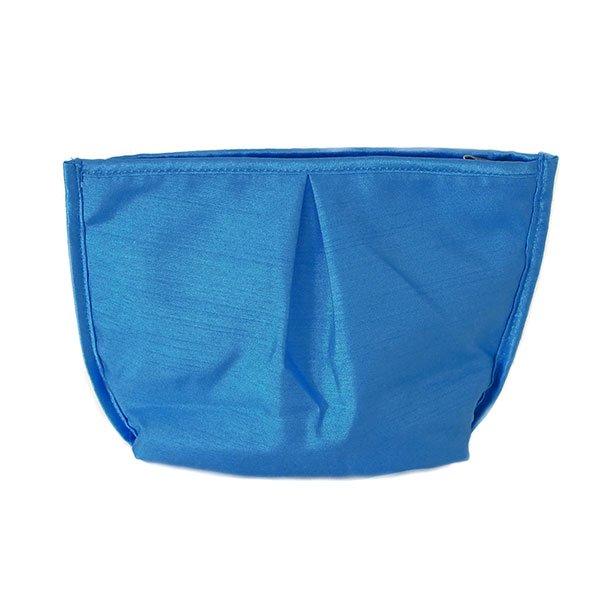 ベトナム 蓮の花(ロータス) 刺繍 ポーチ(ブルー)【画像2】