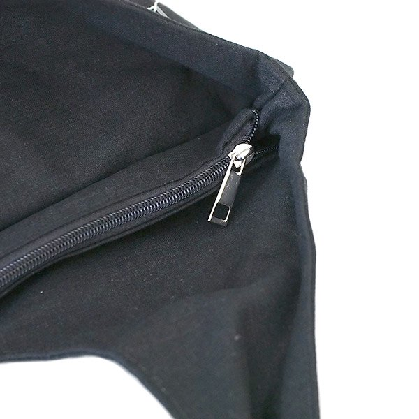 蓮刺繍バッグ
