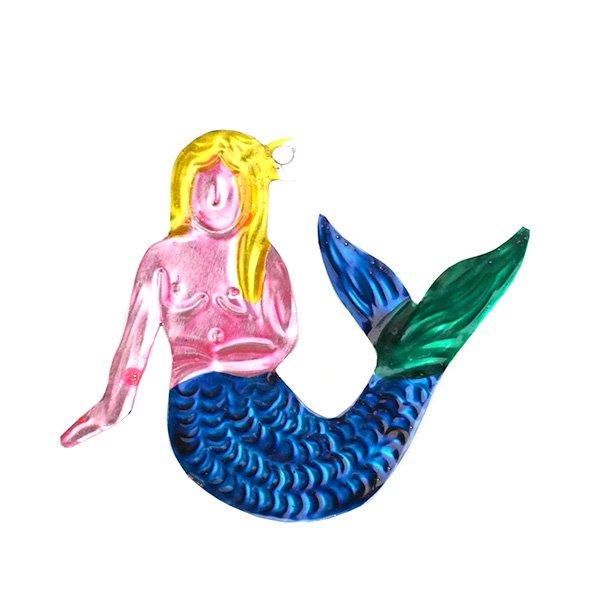 メキシコ ブリキ オーナメント(人魚 B)【画像2】