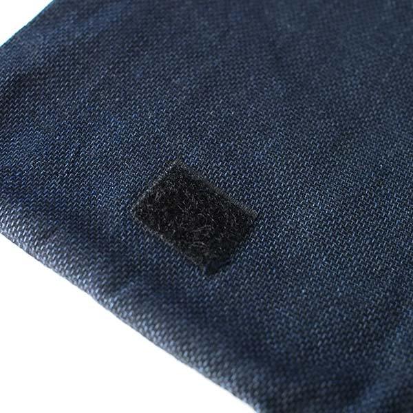 ベトナム 黒モン族 古布 刺繍  ポシェット (B)【画像5】