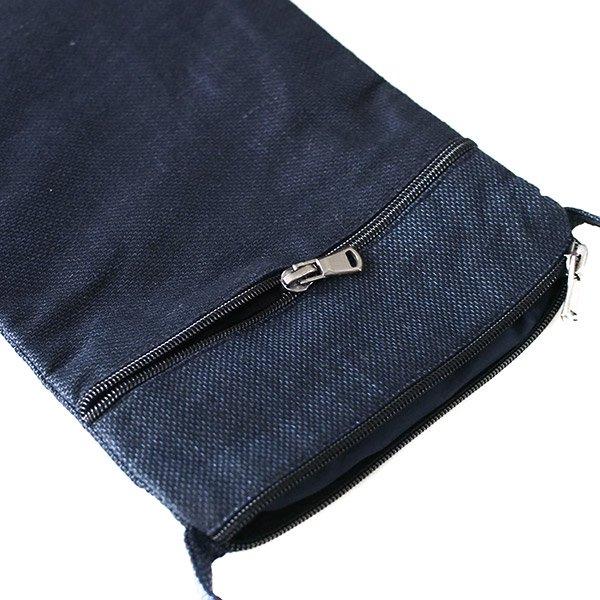 ベトナム 黒モン族 古布 刺繍  ポシェット (B)【画像8】